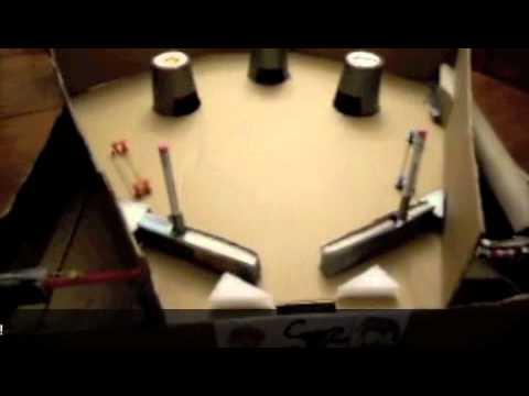 cardboard pinball machine instructions