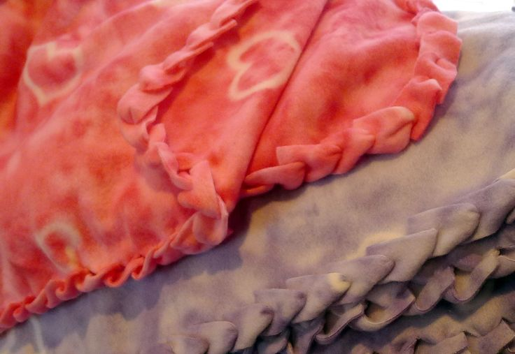 double layer fleece blanket instructions