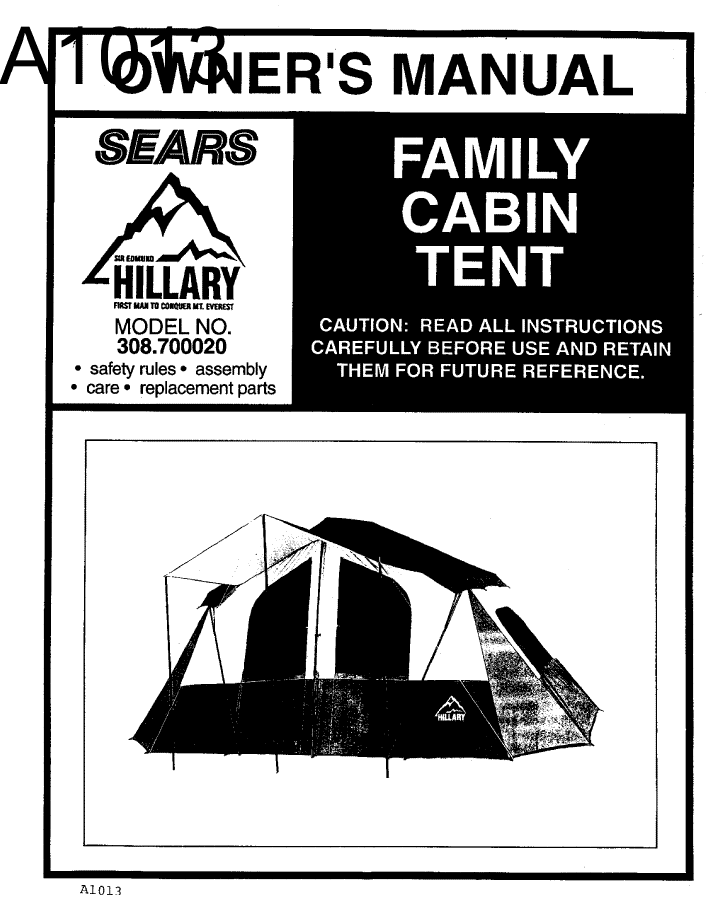 hillary dome tent instructions