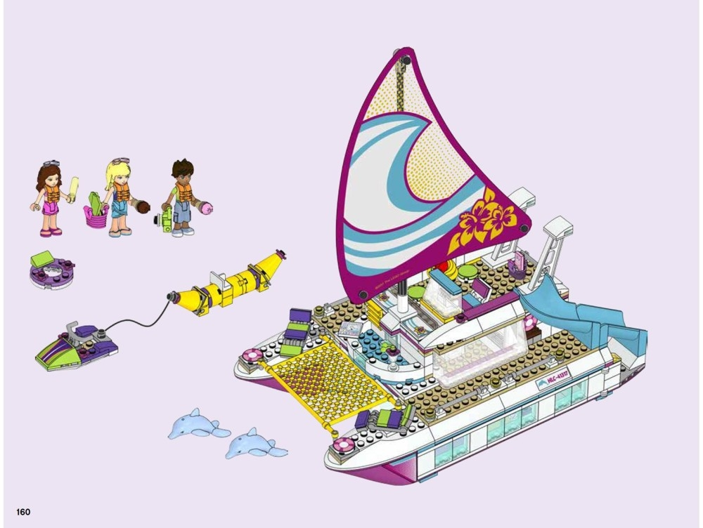 lego friends sunshine catamaran instructions