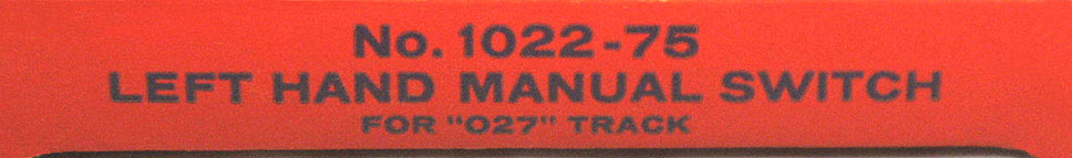 lionel 027 switch instructions