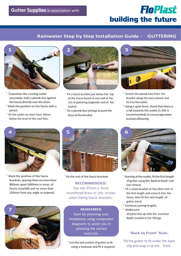 raingo gutter installation instructions
