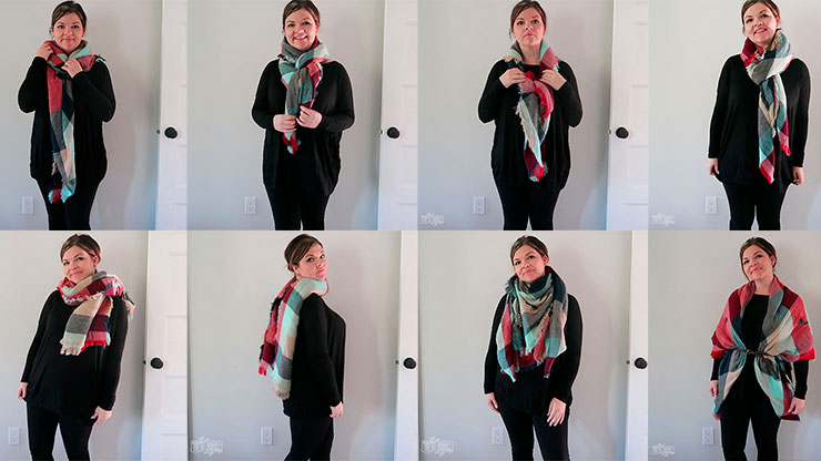 winter scarf tying instructions