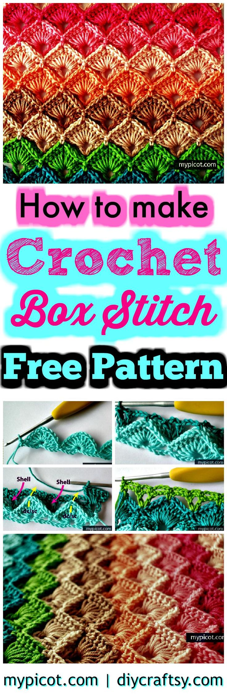 crochet step by step instructions with pictures