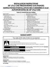gas range installation instructions