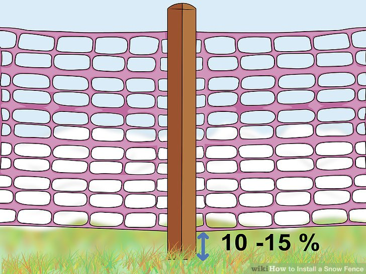snow fence installation instructions