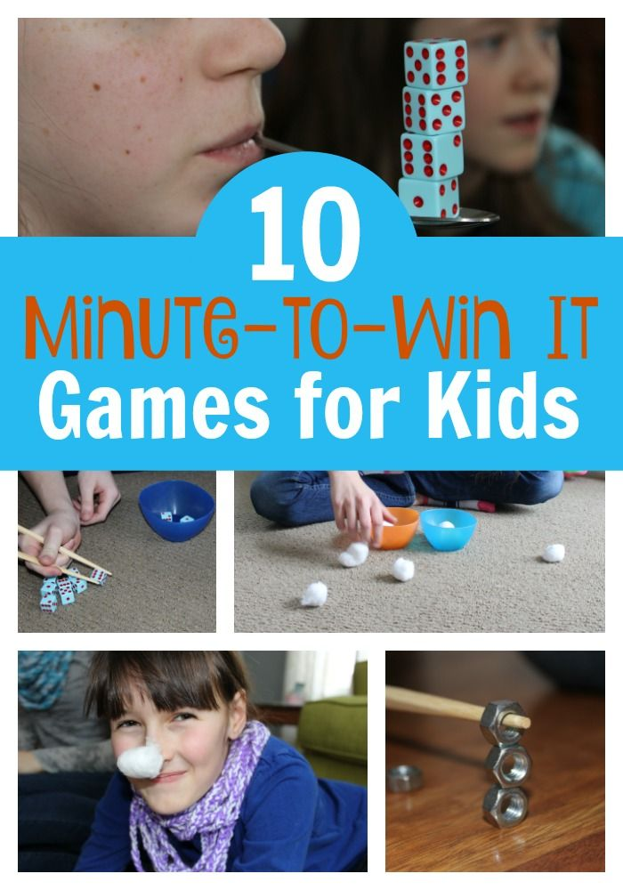 list of minute to win it games and instructions