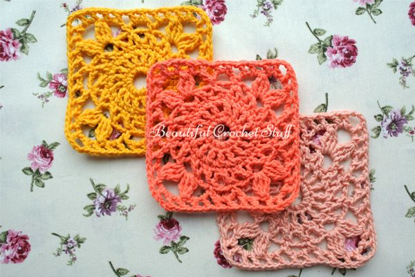 printable crochet granny square instructions