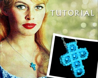 beaded cross necklace instructions