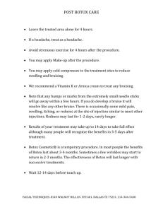radiesse post treatment instructions