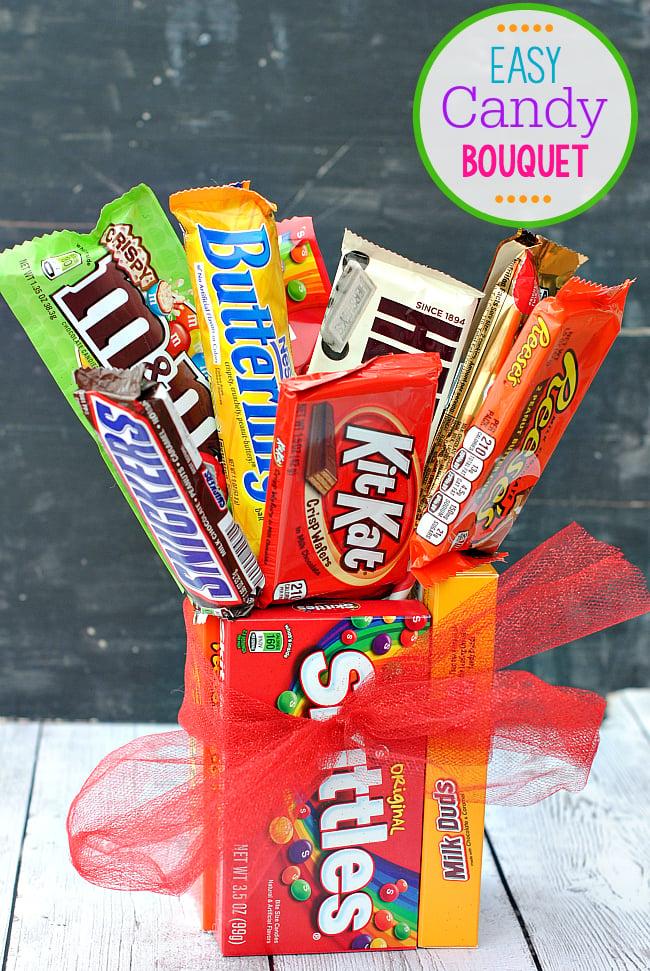 candy bar bouquet instructions