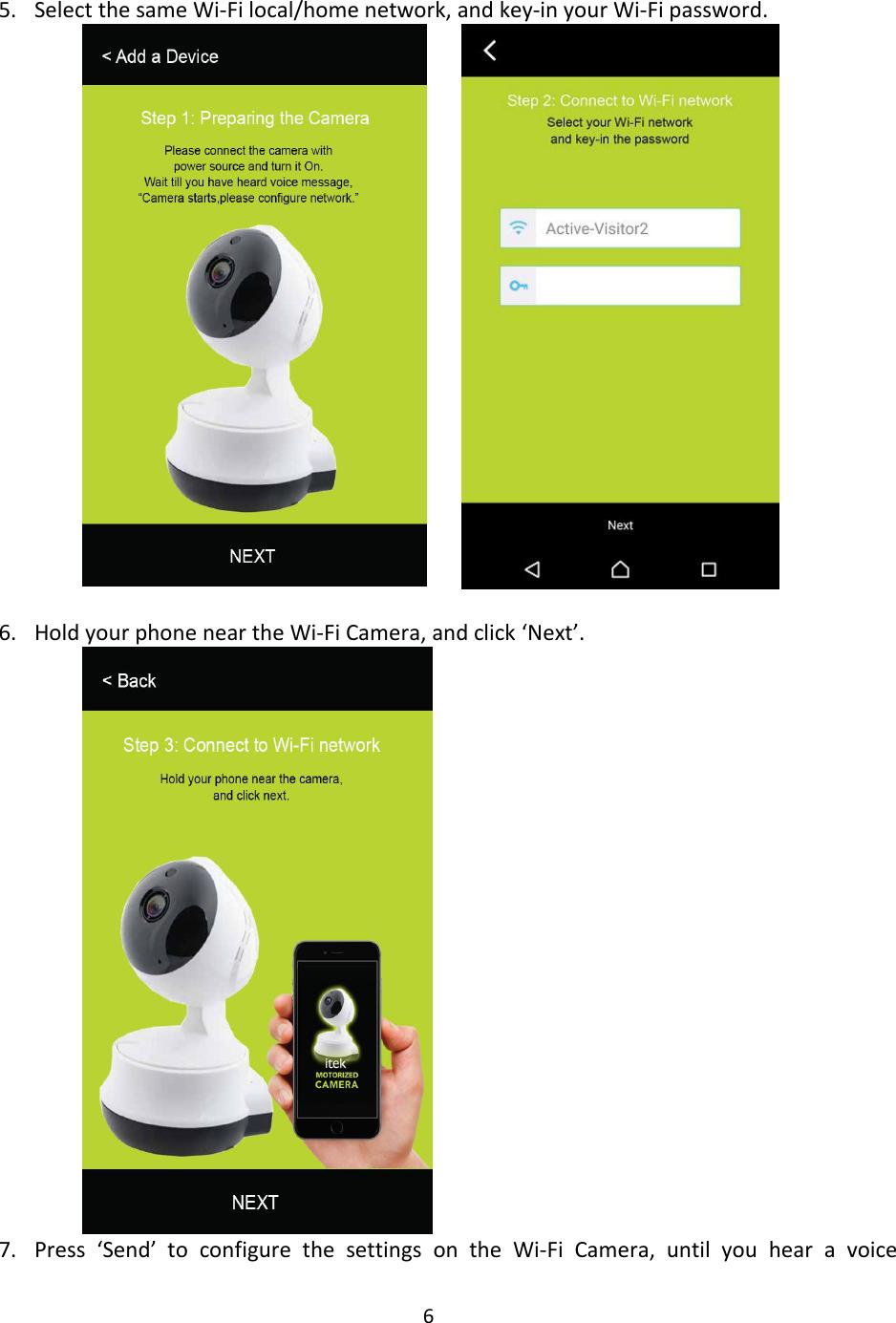 itek smart camera instructions