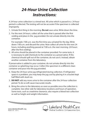 24 urine collection instructions