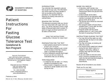 glucose tolerance test fasting instructions