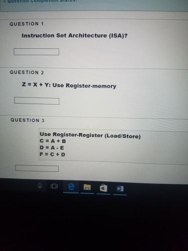 isa instruction set architecture