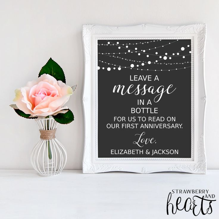 message in a bottle wedding guest book instructions
